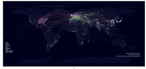 Use R to map flight routes onto a fancy world map ...