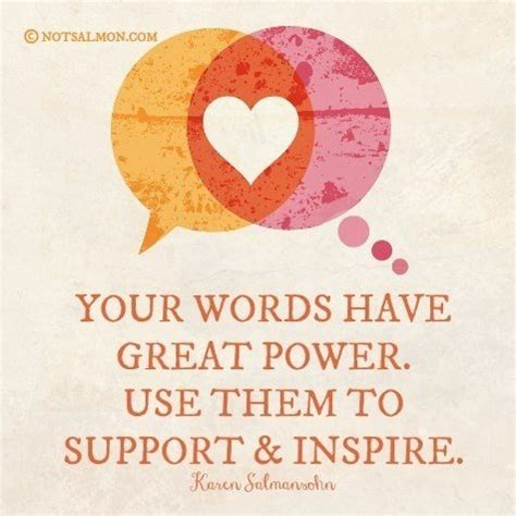 Use your words to inspire, not to discourage ⋆ SHIFT