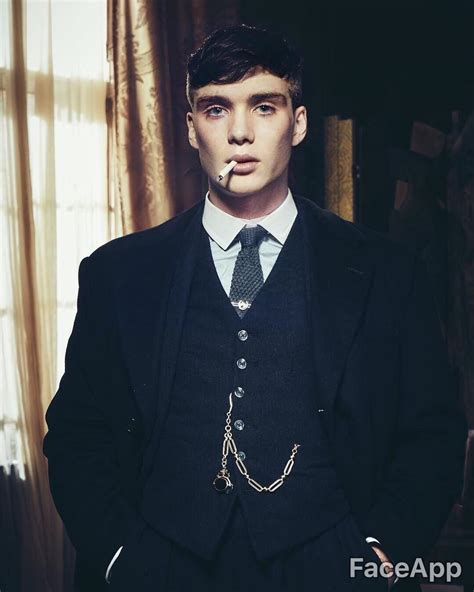 Used face app to make a young Tommy Shelby : PeakyBlinders