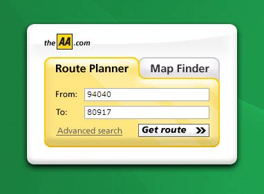 Using AA Route Finder to search AA Route Map & Roads from ...