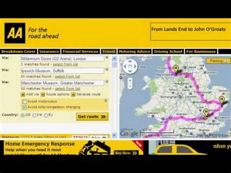 Using the AA Route Planner for Planning a UK Road Trip.flv ...