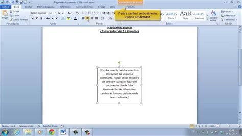 Uso de Ms Word 2010: Texto y Cuadros de Texto   YouTube