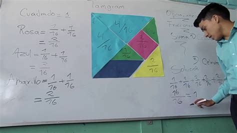 Uso del tangram con fracciones   YouTube