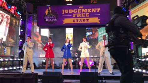 USO Show Troupe performing Military Salute in Times Square ...