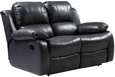 Valencia Leather Sofa Grey Recliner 2 Seater ...