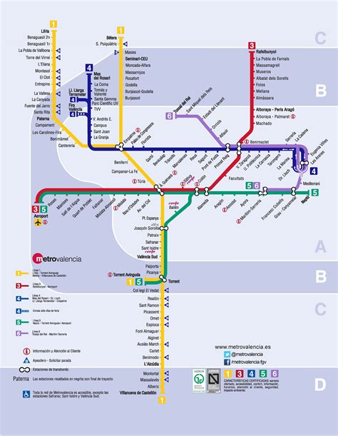 Valencia   Metro Map Ahh, I remember it so well! | Metro map