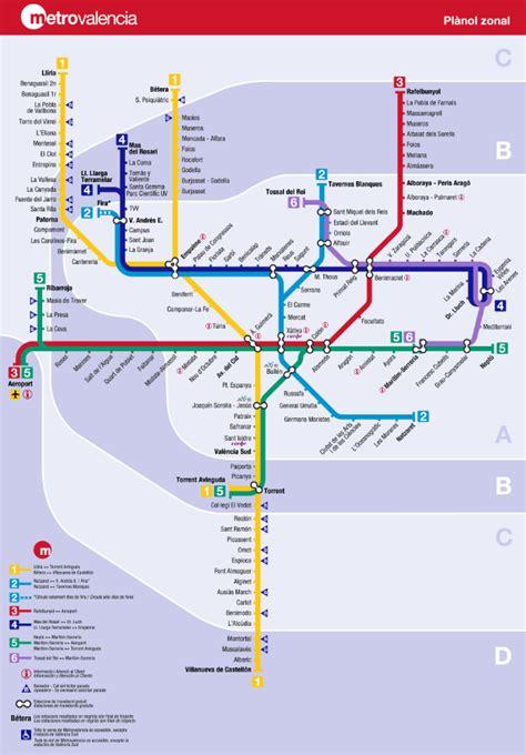 Valencia Plano Metro