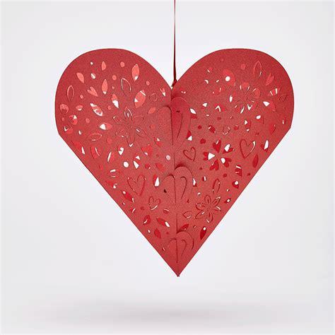 Valentines Hanging Heart Pendants