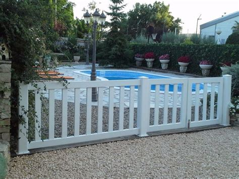 Vallas de PVC para jardín