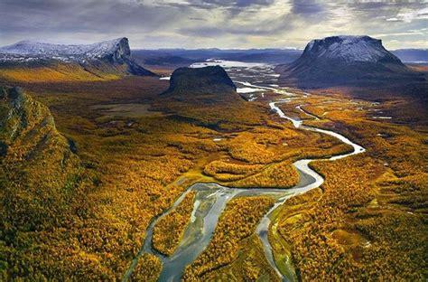 Valle de Rapadalen, en el Parque Nacional de Sarek ...