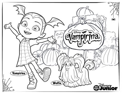 Vampirina Coloring Pages for Your Little One | Disney Family