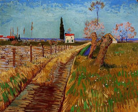 Van Gogh, Path Through a Field with Willows, April 1888 ...