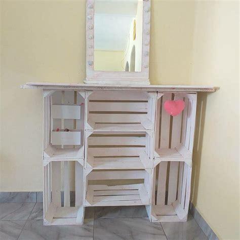 Vanity   Cajas de madera ideas, Muebles con cajas, Muebles ...