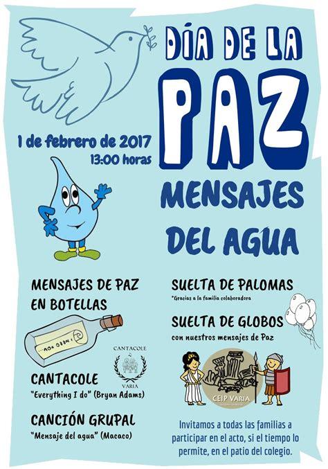 VARIA HACIA LA SOSTENIBILIDAD: Día de la Paz dedicado al Agua