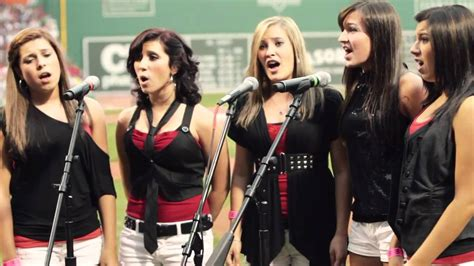 Varsity Girls Sing National Anthem at Red Sox s Fenway ...