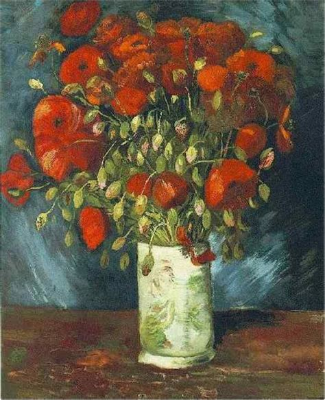 Vase with Red Poppies , 1886   van Gogh The famous Van ...