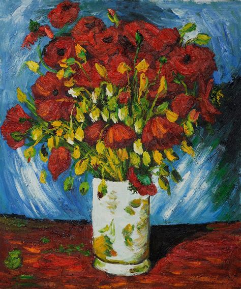 Vase with Red Poppies, 1886   Vincent van Gogh | Van gogh ...