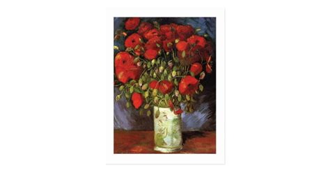 Vase With Red Poppies by Vincent Van Gogh Postcard | Zazzle