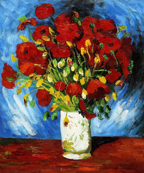 Vase with Red Poppies Vincent van Gogh Art Print/Poster ...