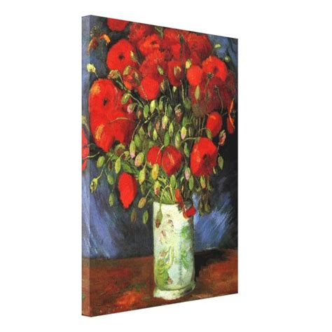 Vase with Red Poppies | Vincent Van Gogh Canvas Print ...