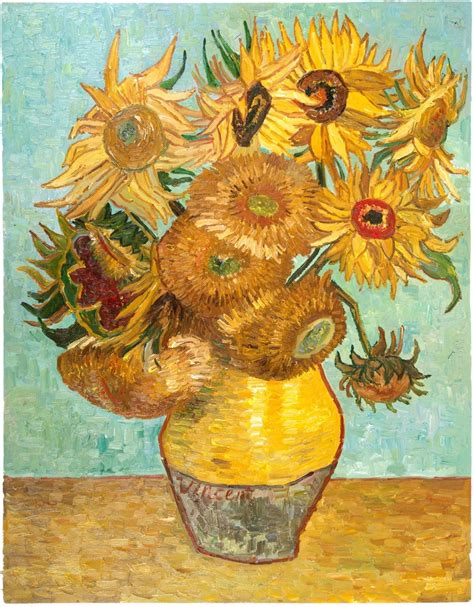 Vase With Twelve Sunflowers Van Gogh Reproduction, hand ...