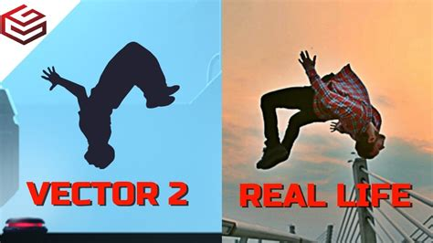 VECTOR 2 Parkour Tricks in Real Life   YouTube