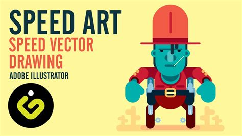 Vector Art In Adobe Illustrator, Speed Drawing Tutorial ...