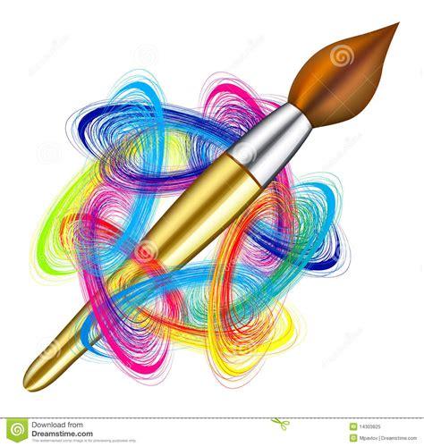 Vector Artist s Palette And Brush Stock Vector   Image ...