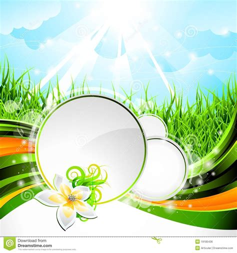 Vector Background Design On A Spring Theme Stock Vector ...