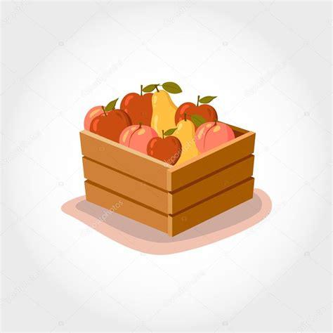 Vector: caja de fruta | Caja con frutas frescas. Productos ...