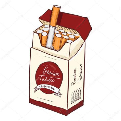 Vector: caja tabaco | Vector de dibujos animados caja de ...