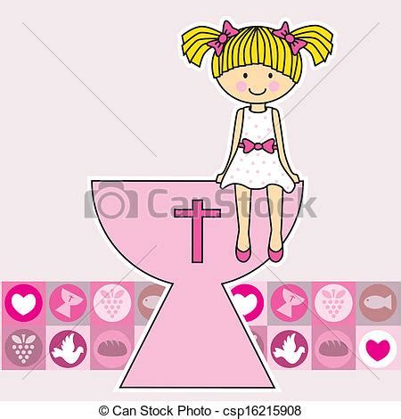 Vector Clipart of Communion girl. Religion csp16215908 ...