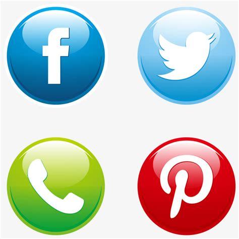 Vector Conjunto De Botones De Redes Sociales Socialmente ...