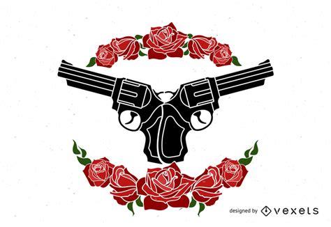Vector de armas y rosas   Descargar vector