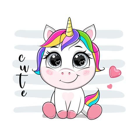 Vector de dibujos animados unicornio con texto. | Vector ...