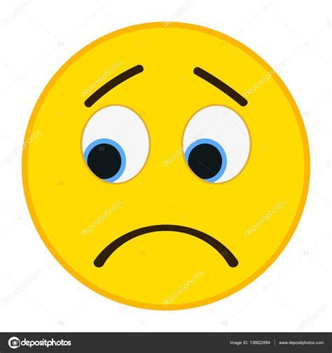 Vector: emoticones tristeza   Emoticono triste trandy ...