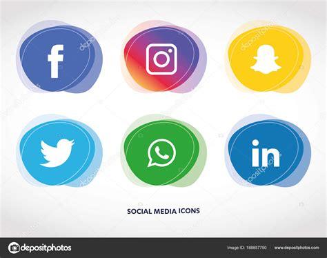Vector: facebook iconos   Conjunto Iconos Redes Sociales ...
