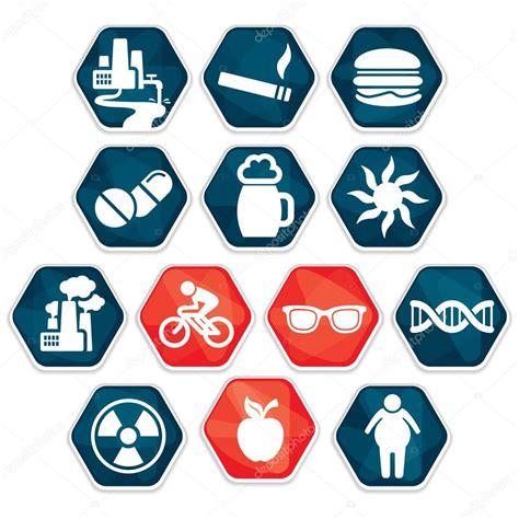 Vector: factores de riesgo   Factores de riesgo de cáncer ...