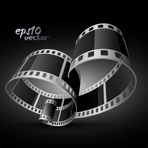 vector film reel   Download Free Vectors, Clipart Graphics ...
