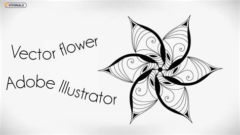 Vector flower Adobe Illustrator tutorial. How to make ...