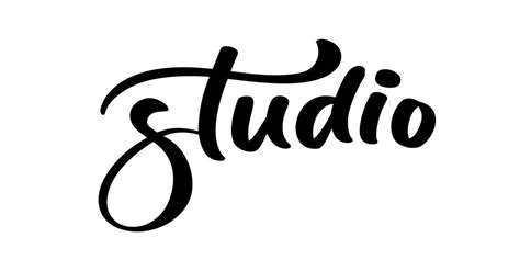Vector hand drawn lettering word Studio   Download Free ...