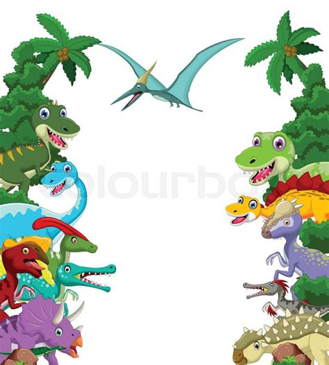 Vector illustration of Dinosaur ... | Stock Vector | Colourbox