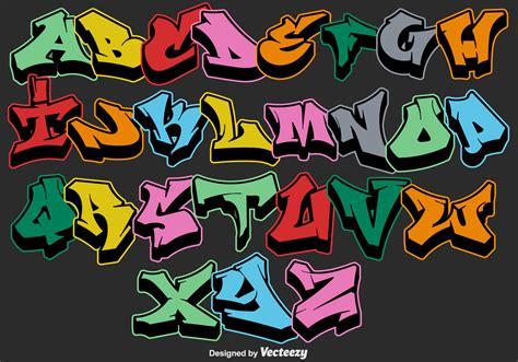 Vector letras de alfabeto de graffiti   Descargar Vectores ...