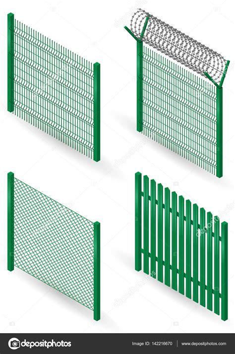 Vector: mallas metalicas y plasticas | Conjunto de vallas ...