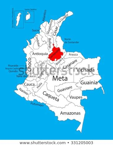 Vector Map Region Santander Colombia Editable Vector de ...
