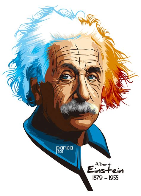 Vector Potrait Albert Einstein on Behance