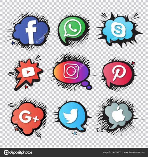 Vectores: redes sociales | Colección de logos de redes ...