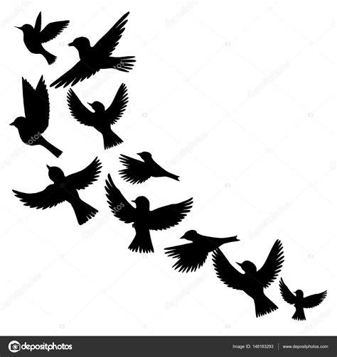 Vectores: silueta de pájaros   Vector siluetas de pájaros ...