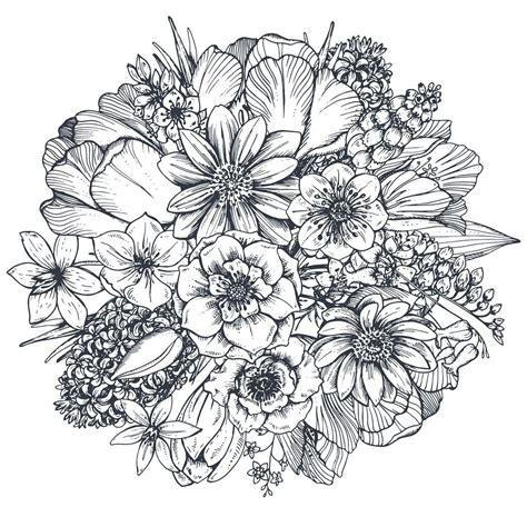 vectorstock_13976465 | Flower drawing, Flower sketches ...