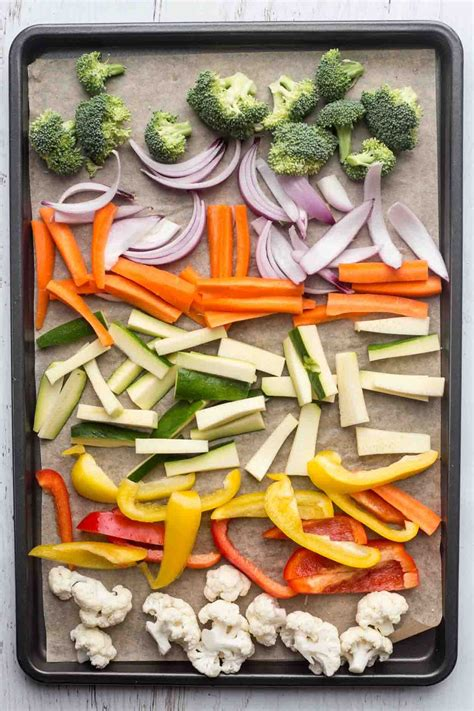Vegetables tossed in a soy sauce mixture and then roasted ...